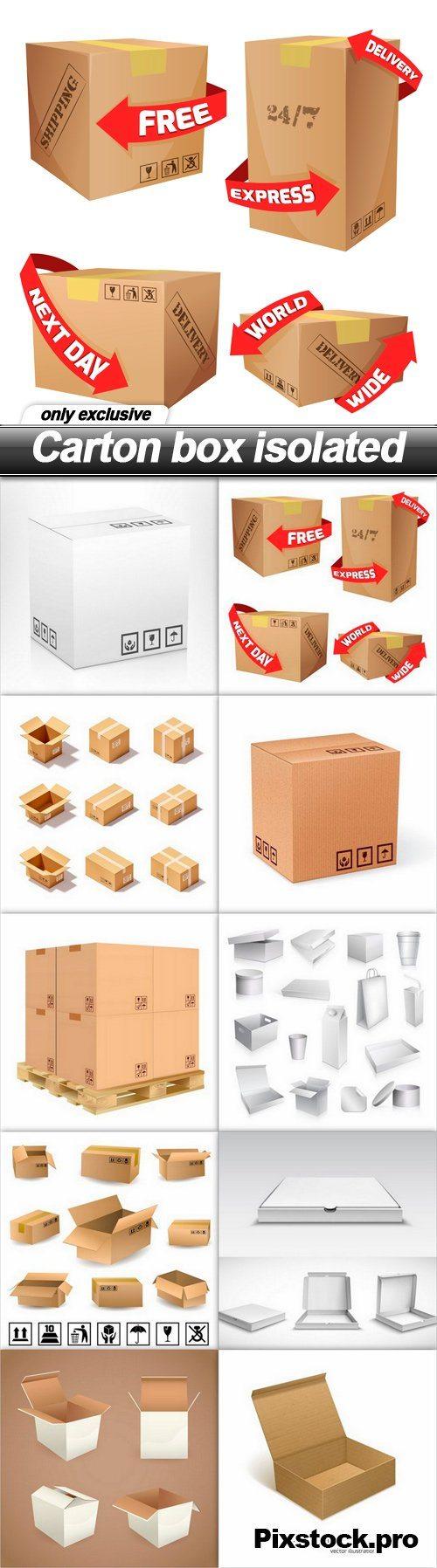 Carton box isolated – 10 EPS