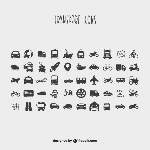 Cartoon collection of transport icons  Vector | Free Download