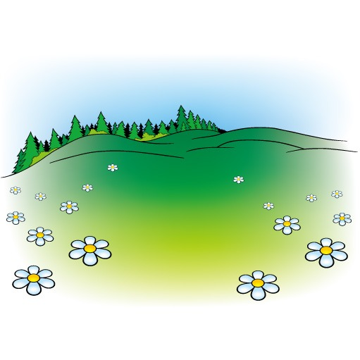Cartoon mountains landscapes vector graphics 02