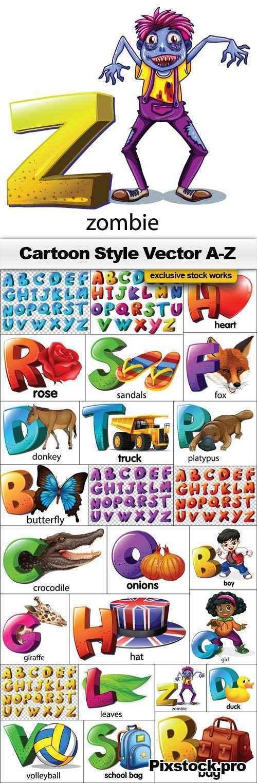 Cartoon Style Vector Alphabet