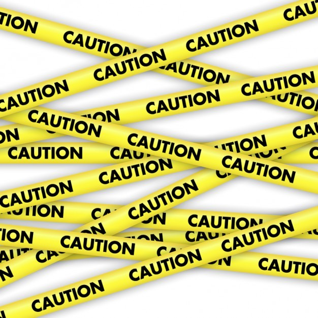 Caution Yellow Tapes  Vector | Free Download