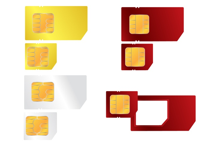 Cellphone SIM Card Vector