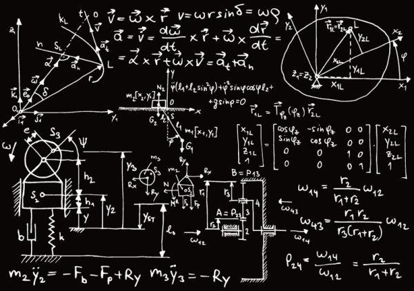 Chemical formula Handwritten edition vector