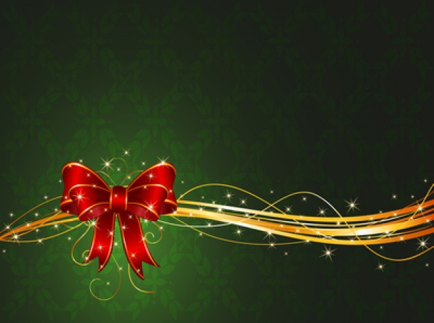Christmas background with green leaves