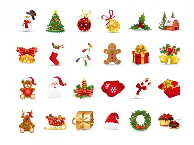christmas elements vector set  Vector | Free Download