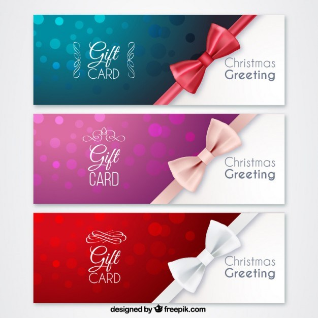Christmas gift cards  Vector | Free Download