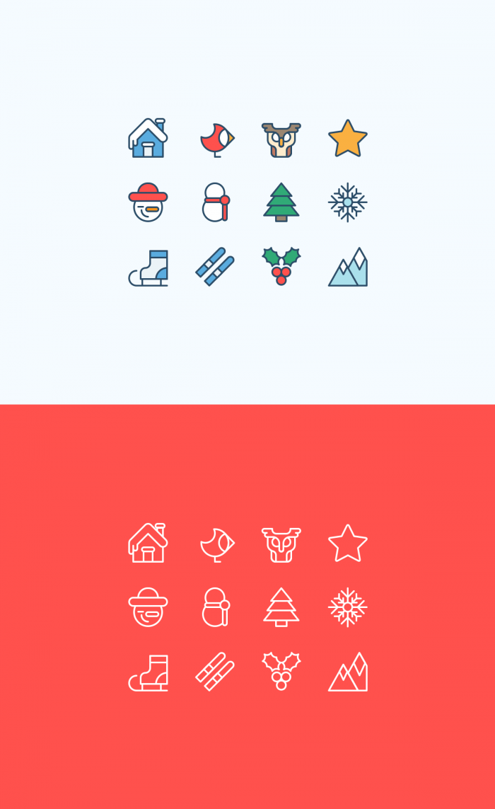 Christmas outline icons – Outdoor | IconStore