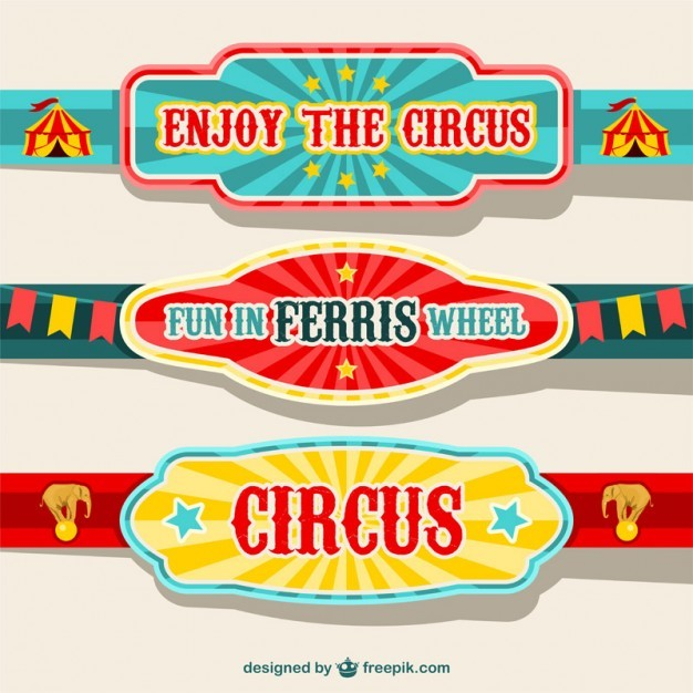 Circus banners design  Vector | Free Download