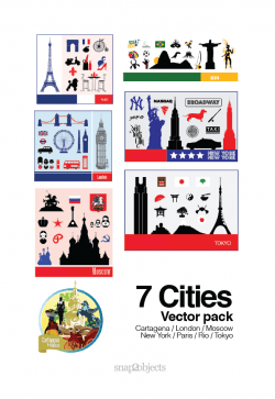 7 Cities Vector Pack