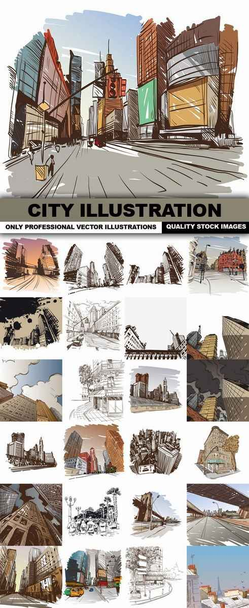 City Illustration – 25 Vector