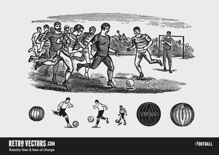 Classic Football/Soccer | Free Retro Vectors