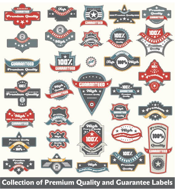 Classic Label stickers 03 free vector