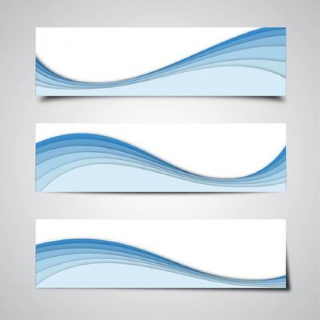 Clean banners background with blue stripes  Vector | Free Download