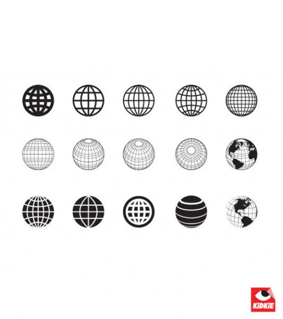 Clean earth globe collection  Vector | Free Download