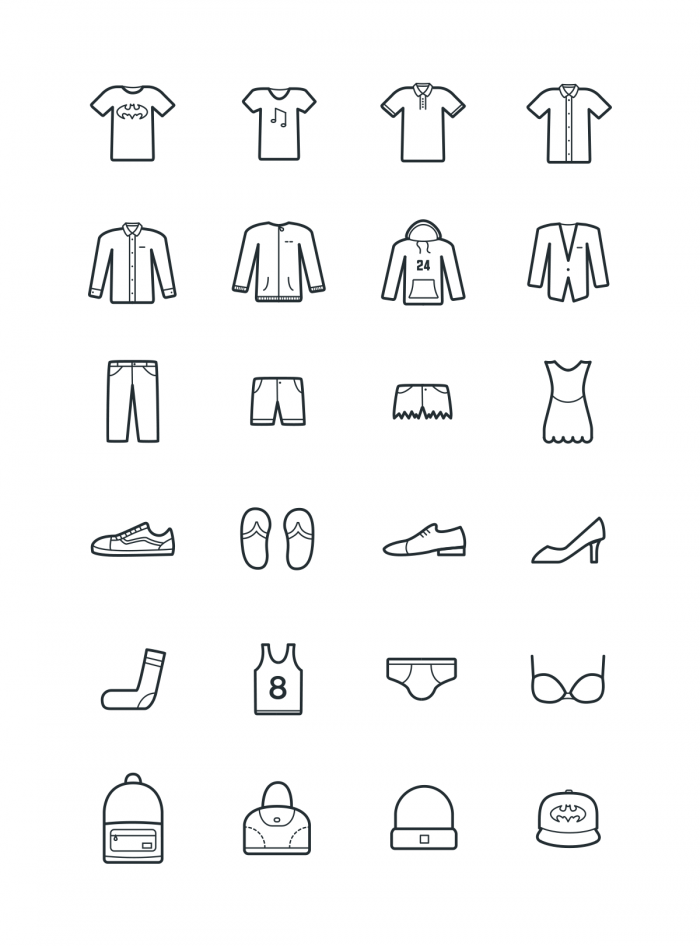 24 clothes icons | IconStore