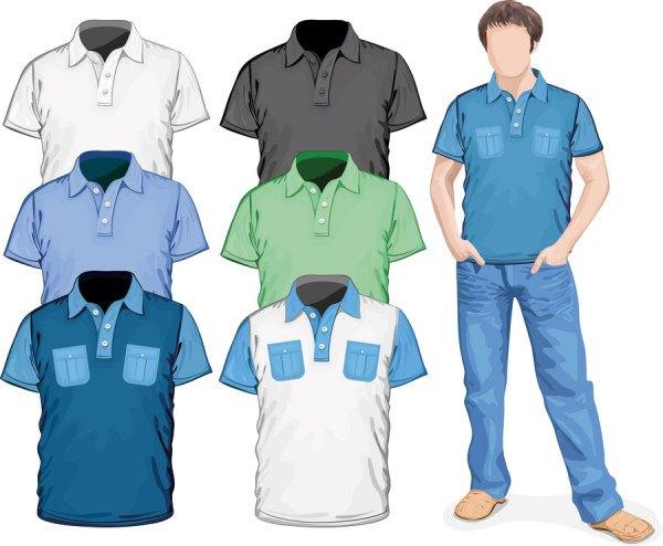 Clothes template design vector 03