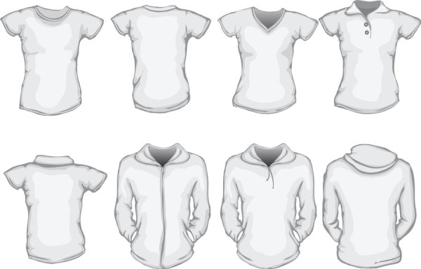 Clothes template design vector 04