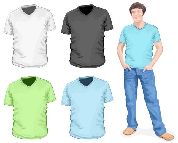 Clothes template design vector 01