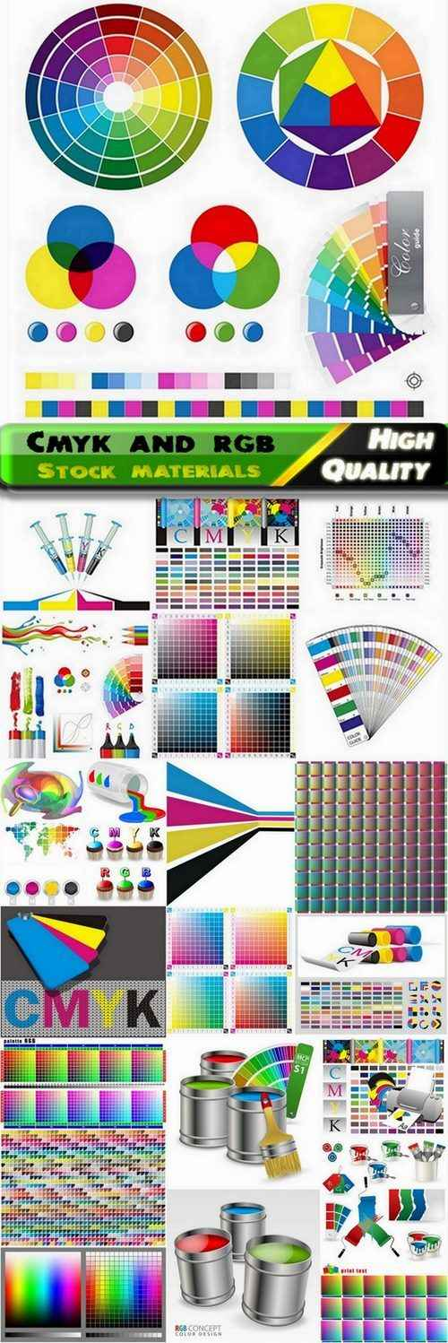 Cmyk and rgb objects and backgrounds – 25 Eps