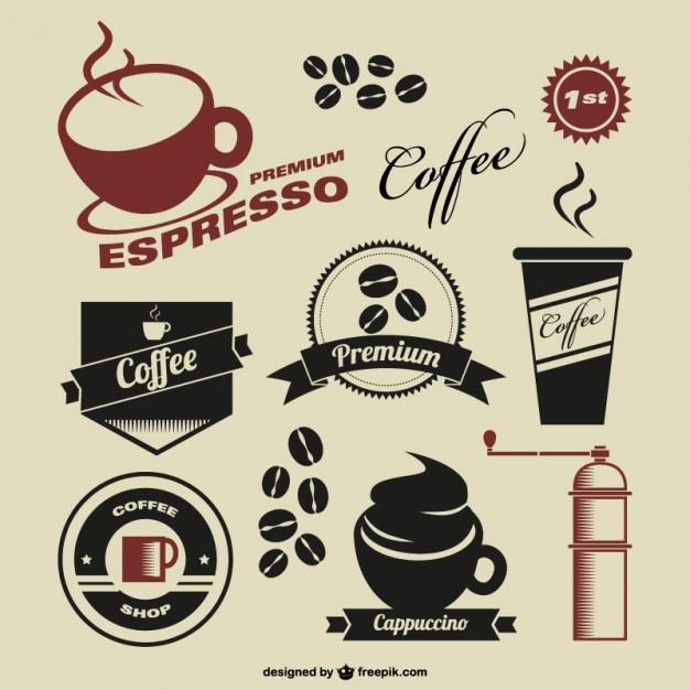 Coffee shop vintage symbols  Vector   Free Download