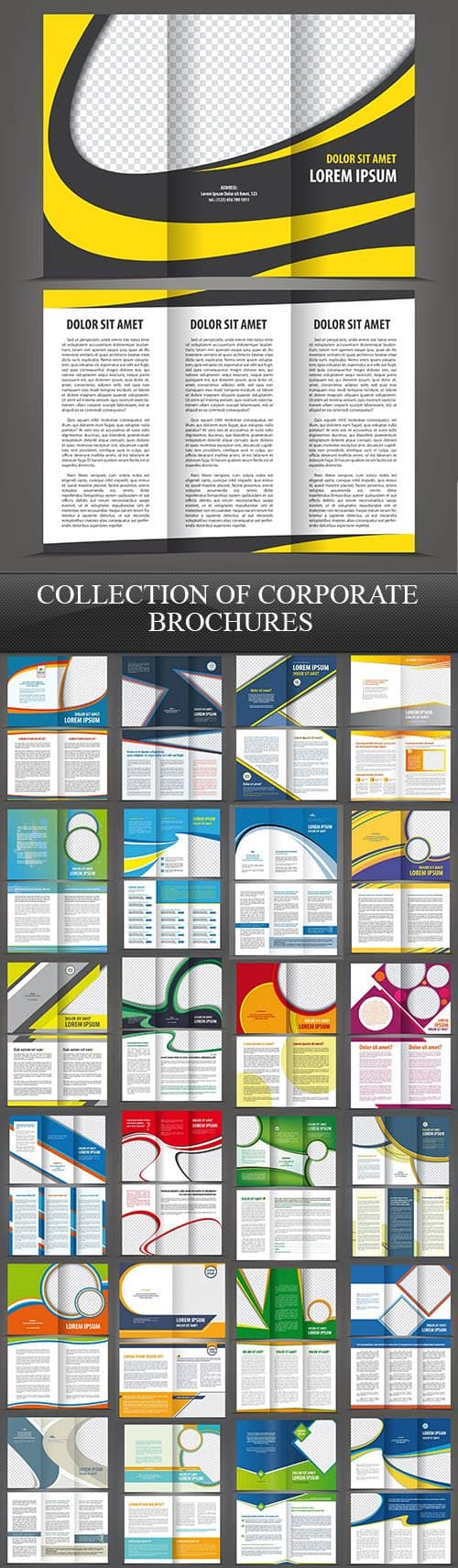 Collection of Corporate Brochures, 25xEPS