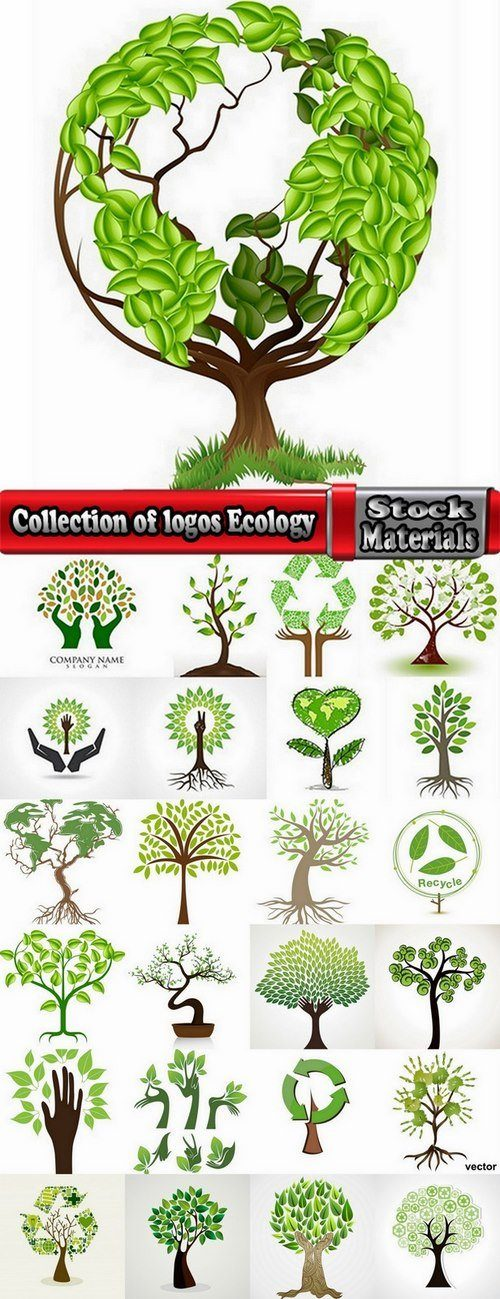 Collection of logos Ecology 25 Eps