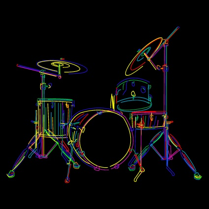 Color lines Musical instruments vector 03