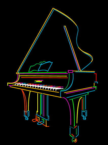 Color lines Musical instruments vector 05