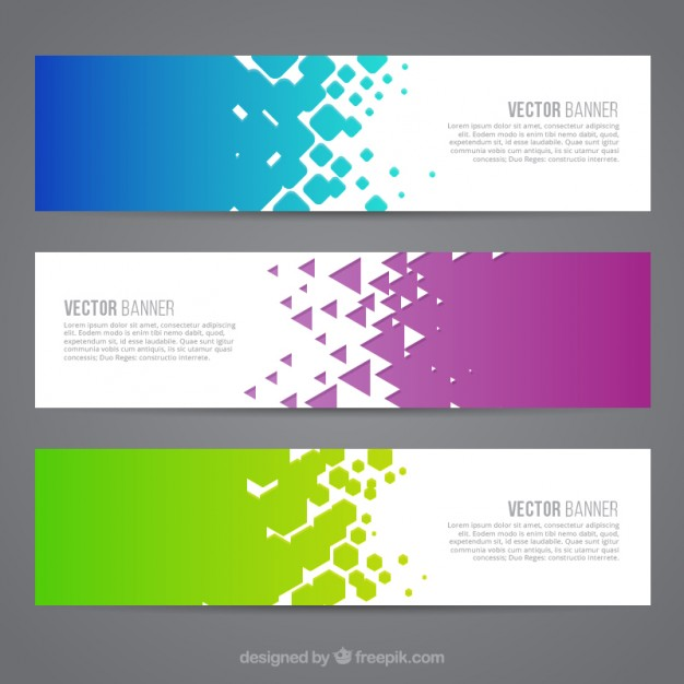Colored abstract banners
