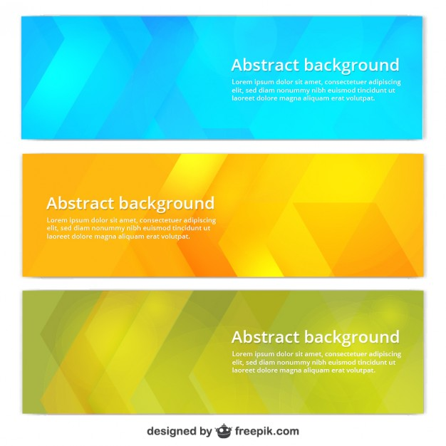 Colorful banner templates  Vector | Free Download