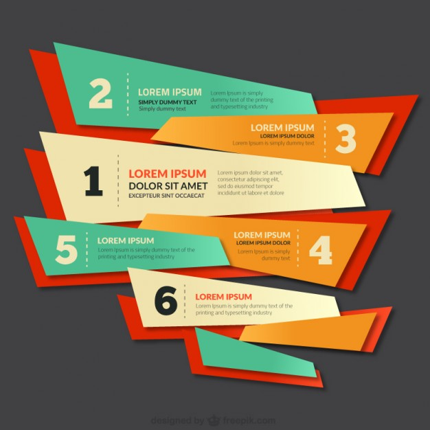 Colorful banner with numbers  Vector | Free Download