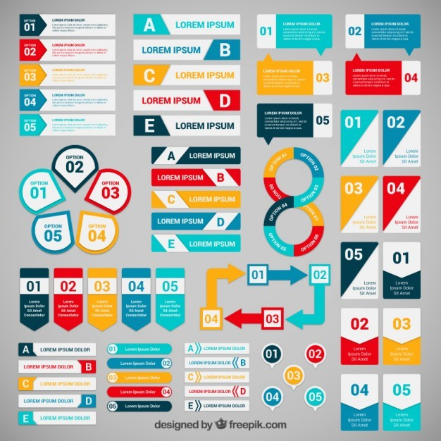Colorful  banners for infographic  Vector | Free Download