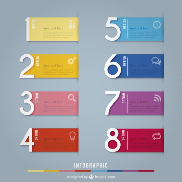 Colorful banners infographic  Vector | Free Download