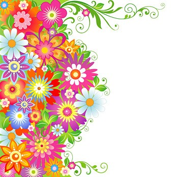 Colorful flower pattern vector material