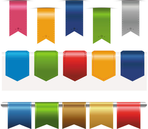 Colorful Label Stickers free vector 02