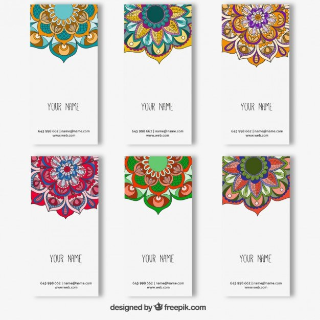 Colorful mandala banners collection  Vector | Free Download