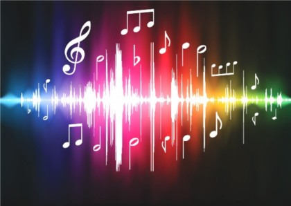 Colorful music design elements background vector