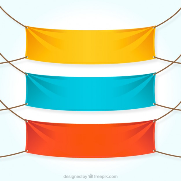 Colorful textile banners  Vector | Free Download