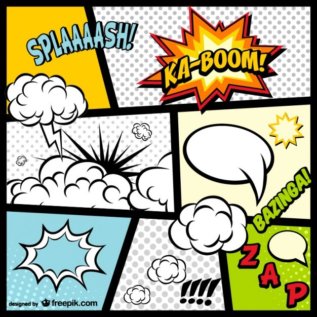 Comic Book page elements free download   Vector | Free Download