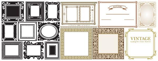 Common Border frame vector