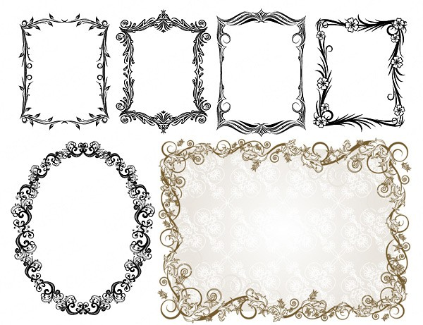 commonly used ornate Border vector