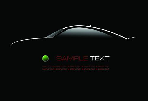 Concept cars elements vector backgrounds art 01