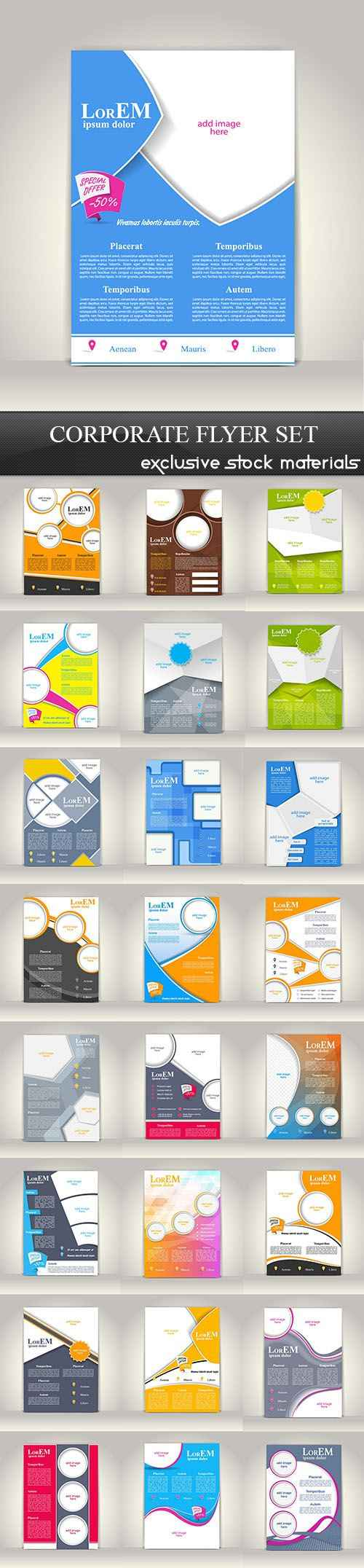 Corporate Flyer Set, 25xEPS