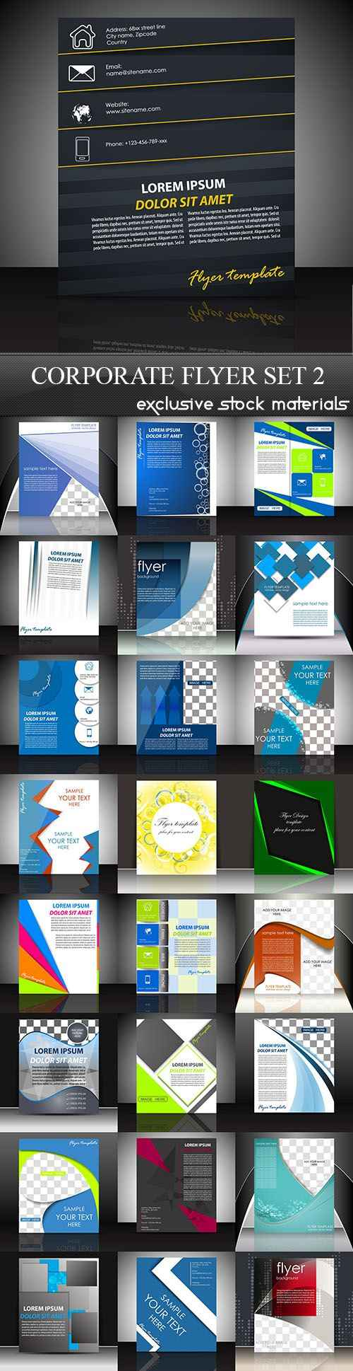 Corporate Flyer, 25xEPS
