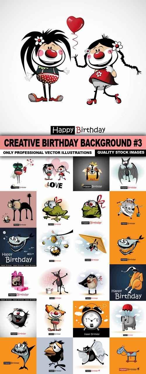Creative Birthday Background #3 – 25 Vector