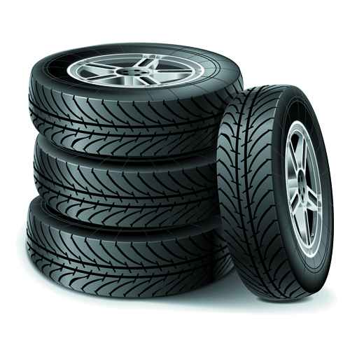 Creative car tires vector design 03