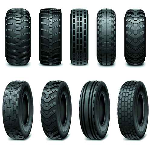 Creative car tires vector design 01