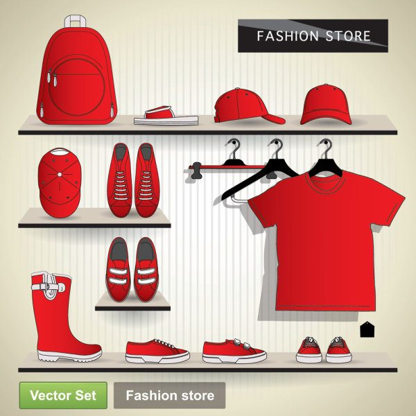 Creative Clothes design elements vector set 18