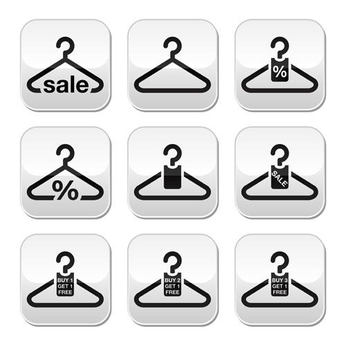 Creative clothes hangers design elements vector 03
