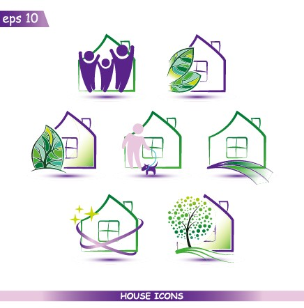 Creative house icons design graphic vector – Life Icons